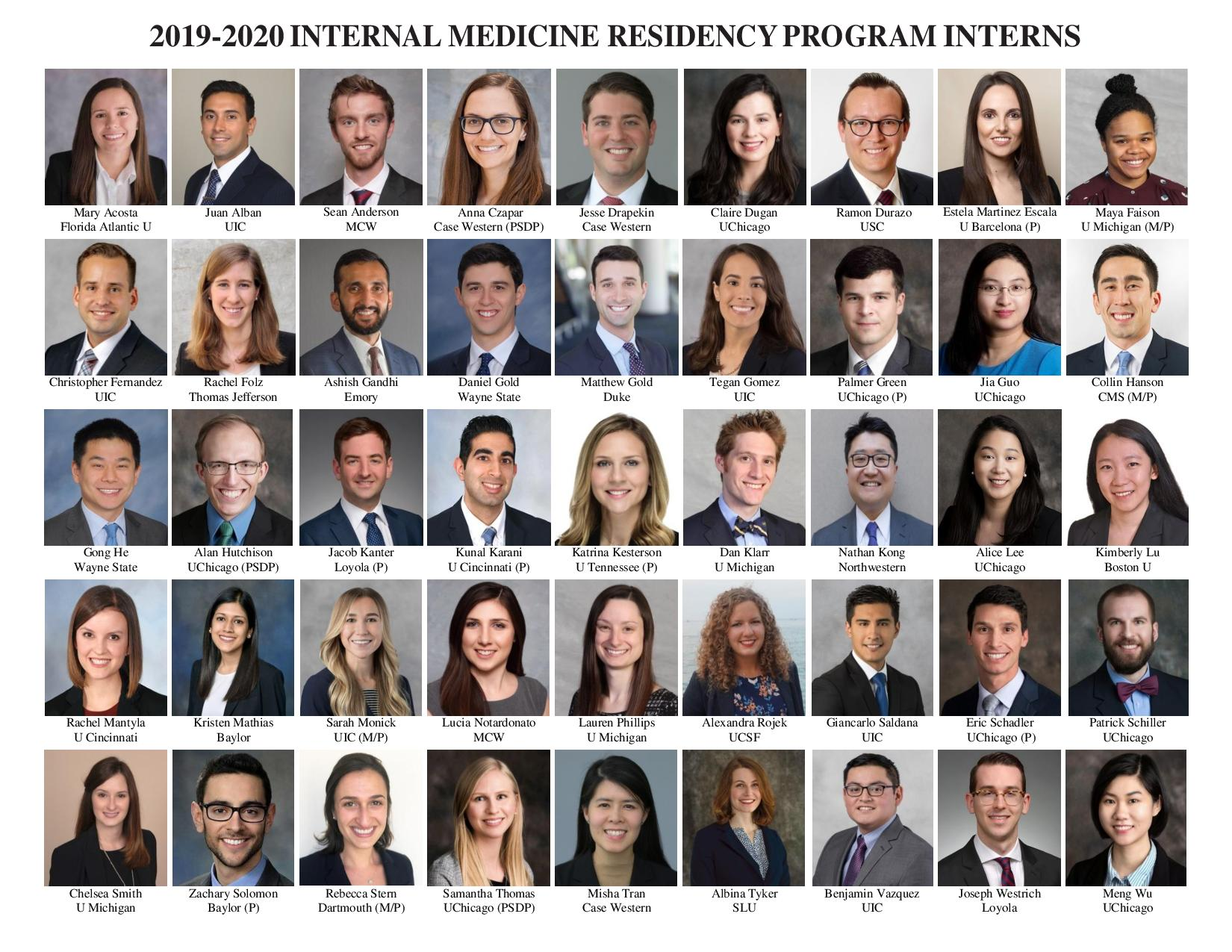 2019 Intern Match List and Profiles! | Chief Residents